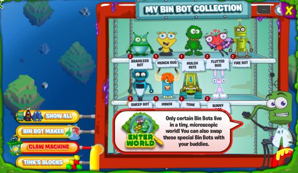 enter world bin bots