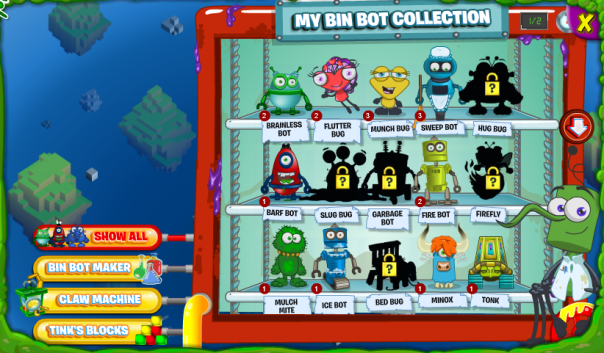 New Bin Bot Portal