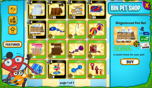 Bin Pet Shop Inside