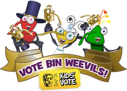 Bin Weevils Bafta Kids Vote Logo