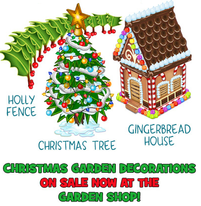 Christmas Garden Items