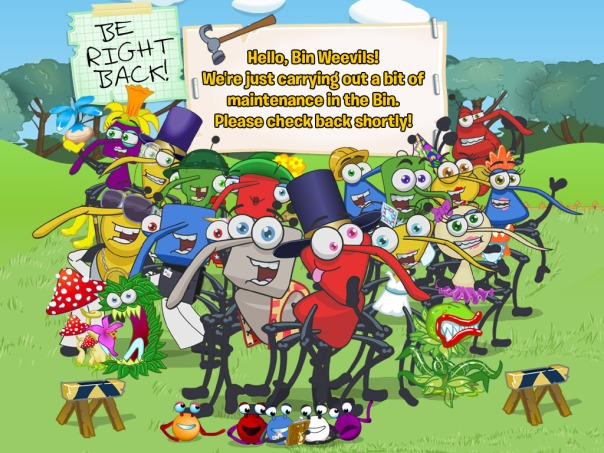 Here's the image, which you will see when you go to BinWeevils.com.