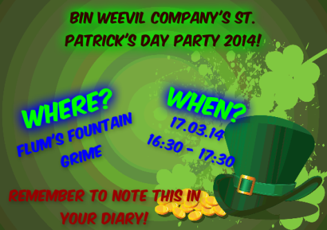 St. Patrick's Day Party Details