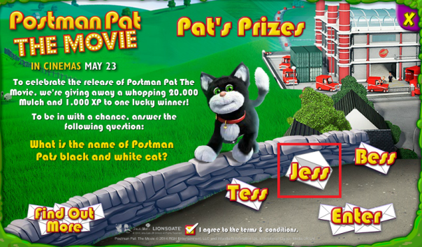 competition answer - Bin Weevils Postman Pat