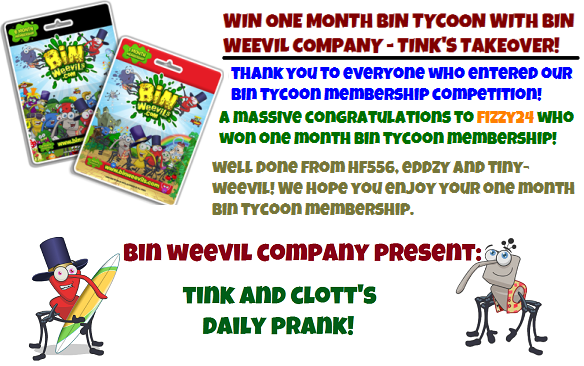 Win Bin Tycoon WINNER and Daily Prank