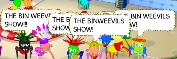 Several Bin Weevils joined unicron7022 to listen in at the Shopping Mall.