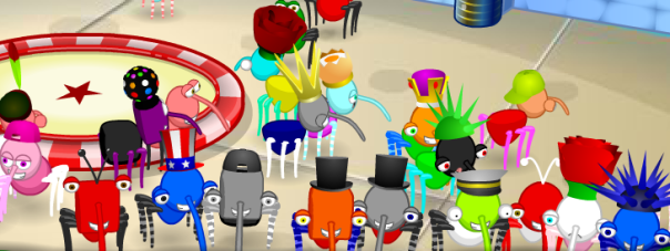 Many excited Bin Weevils were seen inside the Shopping Mall, hanging out with drewbian this morning.