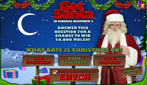 The answer to the competition, is 25th December.