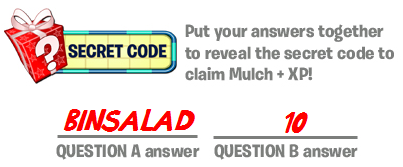 In case you're unable to view the image above, the answer is BINSALAD10.