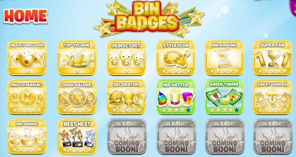 hf556 almost has all the gold Bin Badges!